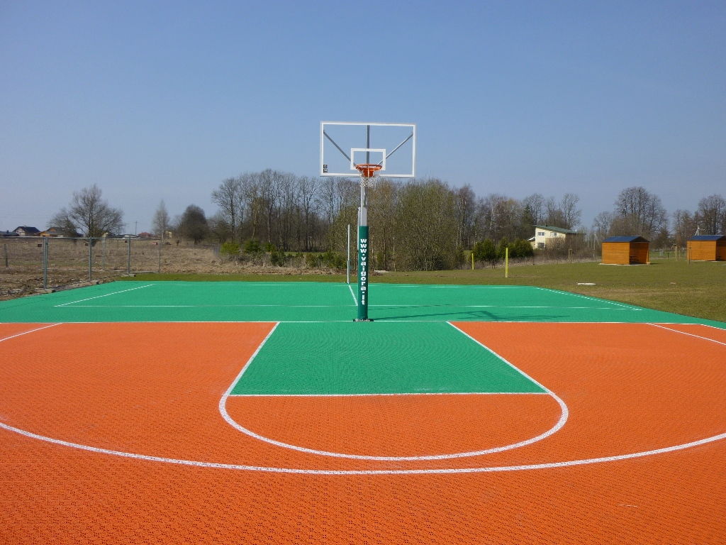 What is the coating made on sports fields 81